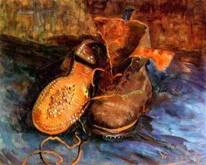 1. Une paire de souliers, Van Gogh, 1887, huile sur toile, 34 x 41,5 cm, Baltimore, The Baltimore Museum of Art.