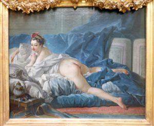François Boucher, L'Odalisque brune, vers 1743-1745, huile sur toile, 53 × 64 cm, Paris, musée du Louvre