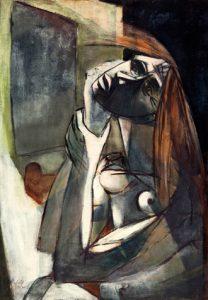 Roberta González, Angoisse, 1936, huile sur toile, 81 x 57 cm, Fondation Hartung Bergman, Antibes.