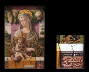 Carlo Crivelli, Vierge à l'Enfant, v. 1480, tempera et or sur bois, 37,8 × 25,4 cm, New York, Metropolitan Museum of Art