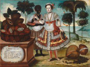 Dame noble avec sa femme esclave par Vicente Albán