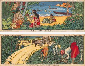 « L'existence à Tahiti » et « Récolte de la canne à sucre »