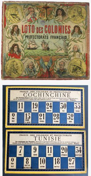 Fig. 6. 'Loto des colonies et protectorats français', c. 1890, éd. J.L. Munaé, Paris (© Munaé (musée national de l'Éducation) / photographies reproduites avec l'aimable autorisation du Munaé)