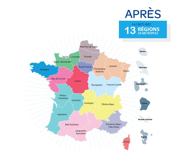 714c4bfcda1 Carte des 13 régions après la réforme territoriale de novembre 2014