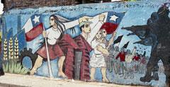 Photo d'un mural contre la dictature, au Chili