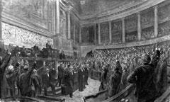 La séance du 4 août 1914 à la Chambre des députés