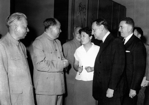André Malraux, Liu Shaoqi et Mao Zedong, le 3 août 1965