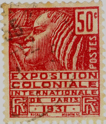 Collection timbres du protectorat en Afrique vers 1960 Timbre-big