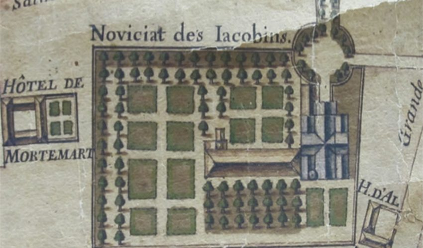 The cloister's northern wing in 1713