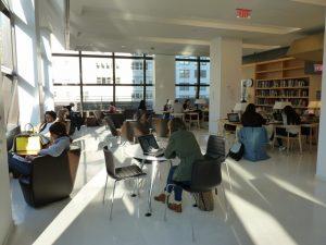 New School Student Centre New York, État de New York - Une utilisation intelligente du m² en plein cœur de NYC : circulations actives et lisibles, diversité des espaces © JLL / Sciences Po