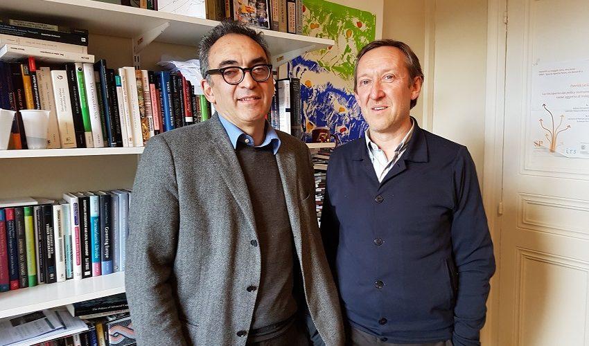 Patrick Le Galès et Mario Cremaschi de l'École urbaine sur le campus 2022