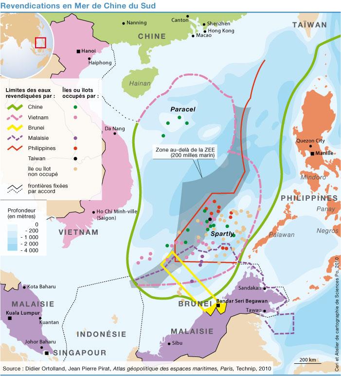 Carte Chine Philippines.Les Conflits En Mer De Chine Meridionale Sciences Po Ceri