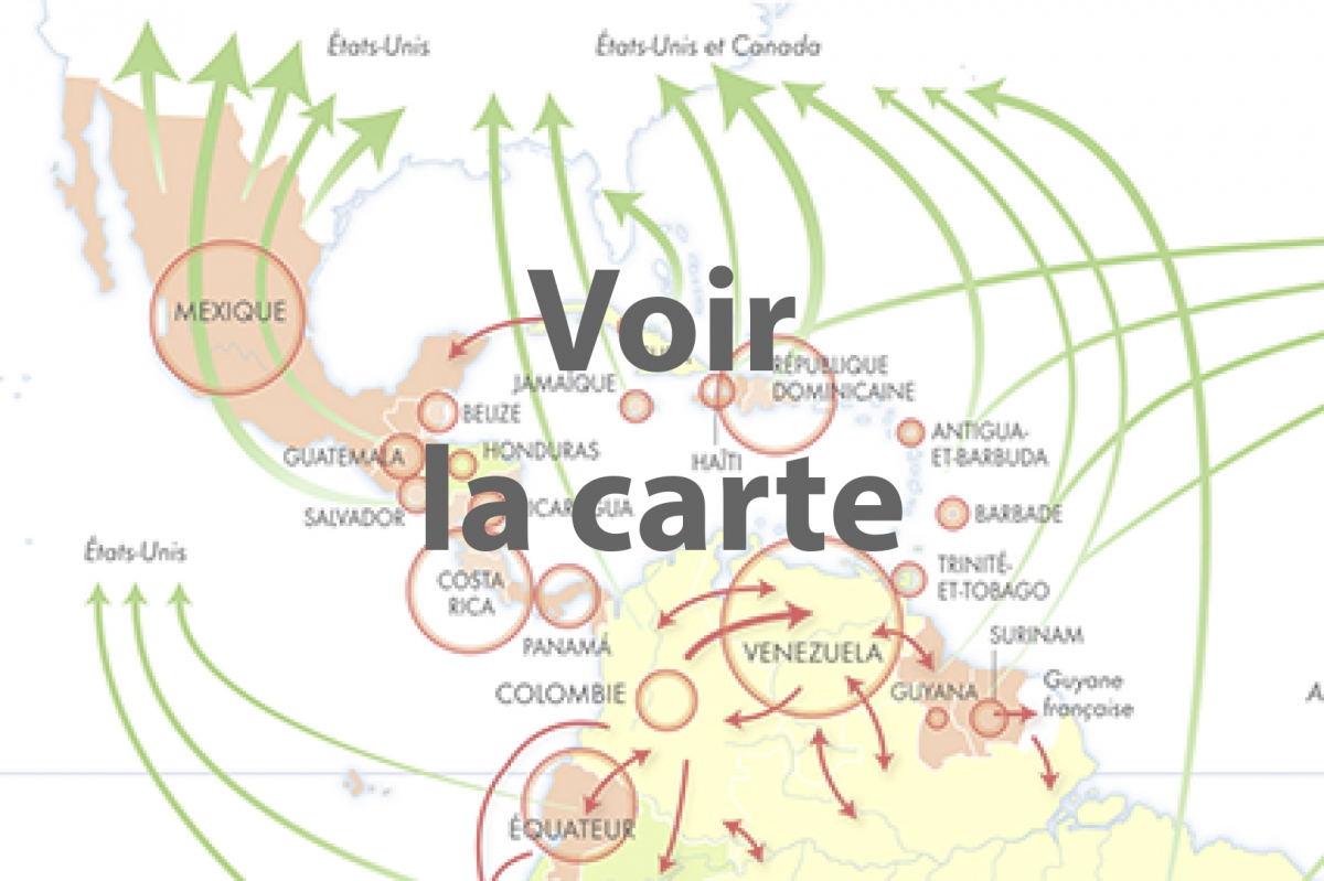 carte migrations Amérique latine