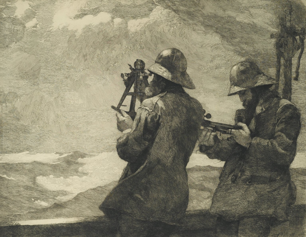 Eight Bells. Painting by Winslow Homer