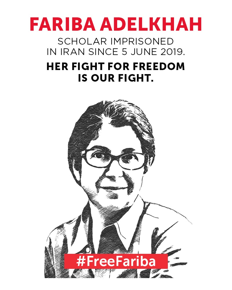 Fariba Adelkhah has been in prison in Iran for one year today 5 June 2020