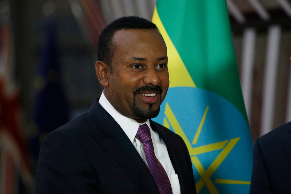 Ethiopian Prime Minister Abiy Ahmed at a meeting in Brussels, 24 January 2019. Copyright: Shutterstock