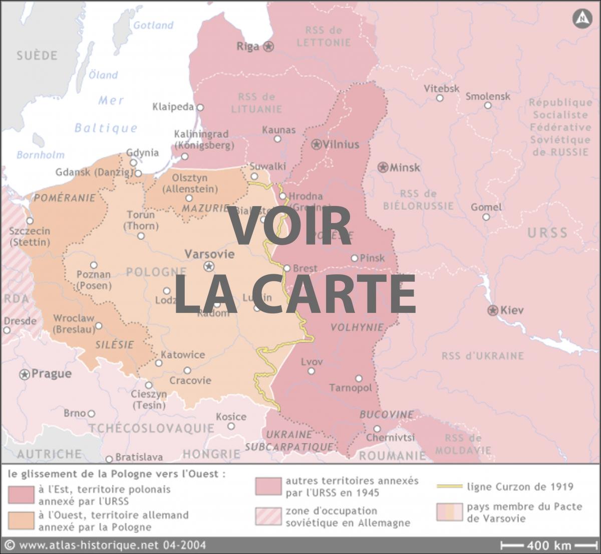 Carte Allemagne Occupee 1945.Terres Perdues Et Recuperees L Expulsion Des Allemands Et