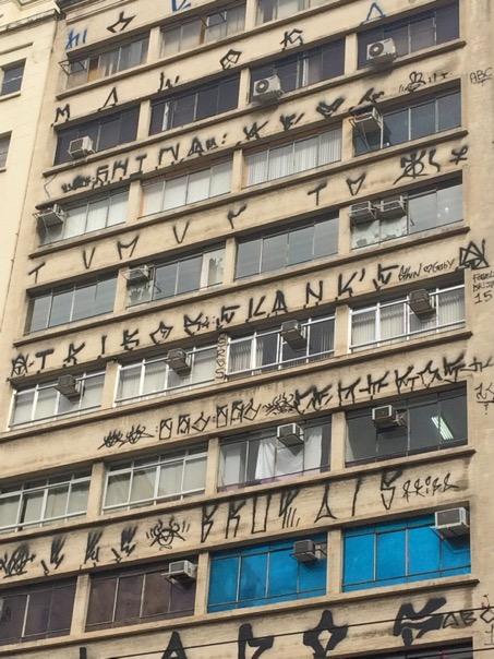 Pixação in Sao Paolo