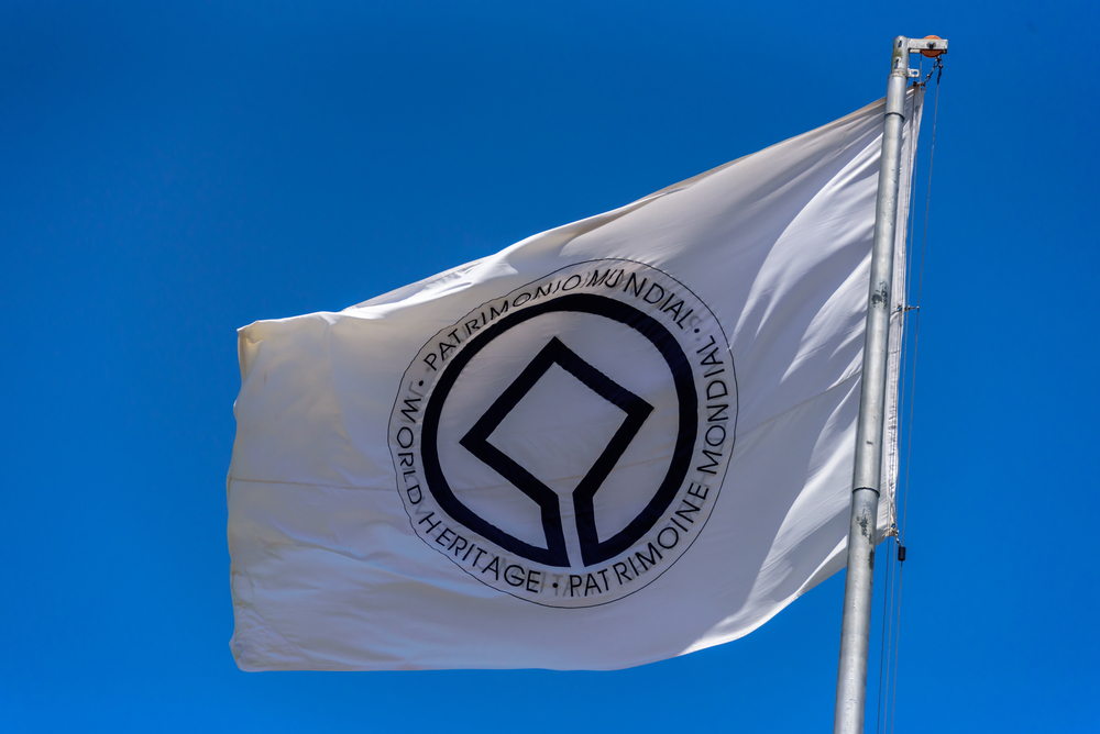 Unesco World Heritage Flag. Copyright: Shutterstock