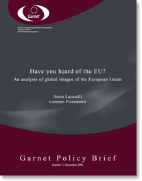 Couverture Garnet Policy Briefs
