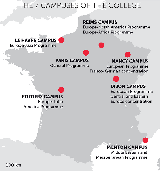 A seven-campus network | Sciences Po Undergraduate College
