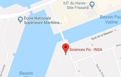 Sciences Po Le Havre campus on Google maps - open in a new window