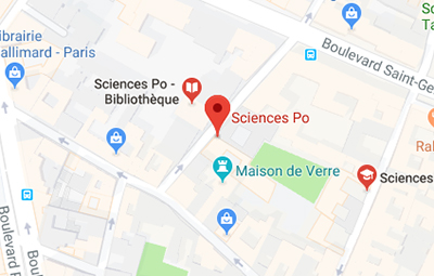 View Sciences Po Paris campus on Google Maps - open in a new window
