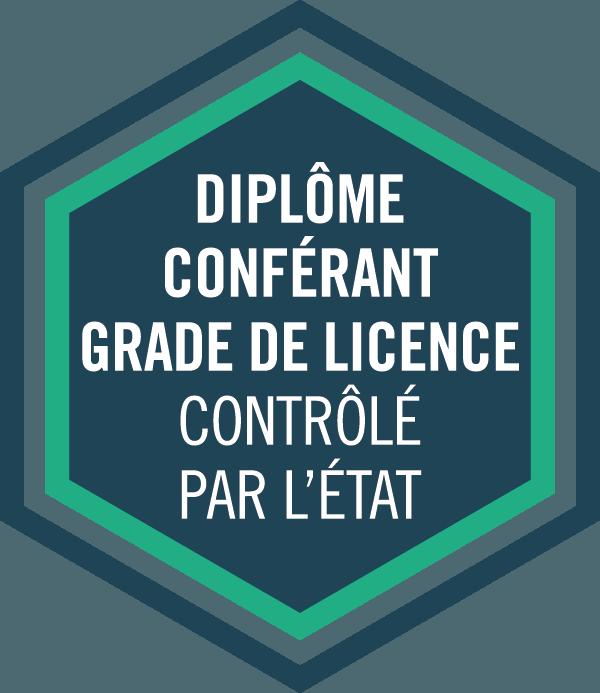 Diplôme conférant grade de licence controlé par l'état