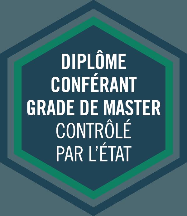 Diplôme conférant grade de master controlé par l'état