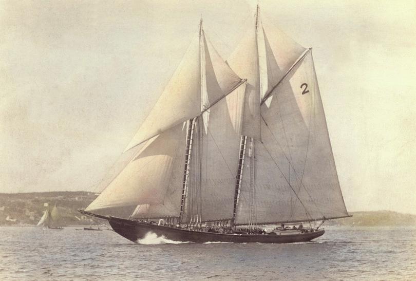 Le Bluenose, la goélette de pêche des Grands Bancs.