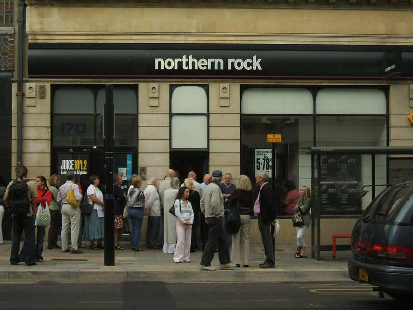 Une agence de Northern Rock à Brighton (septembre 2007).