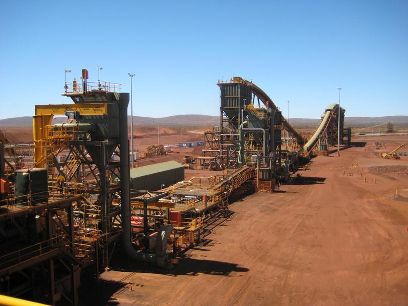 La mine de fer «Brockman 4» de Pilbara en Australie-Occidentale (2010).