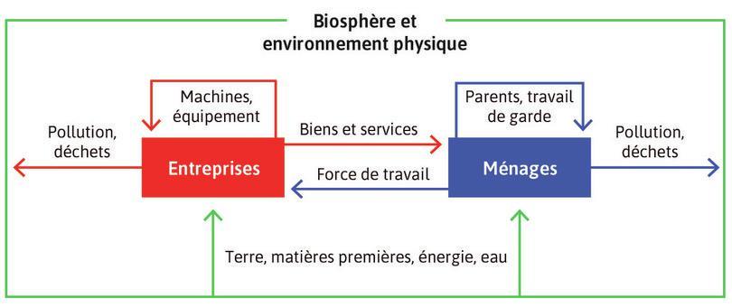 Un modèle de l'économie: ménages et entreprises.
