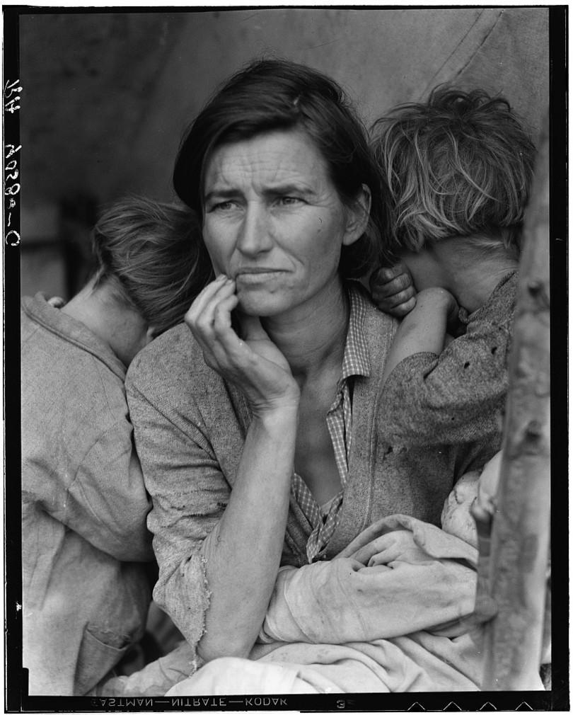 Mère migrante de Dorothea Lange (1936).