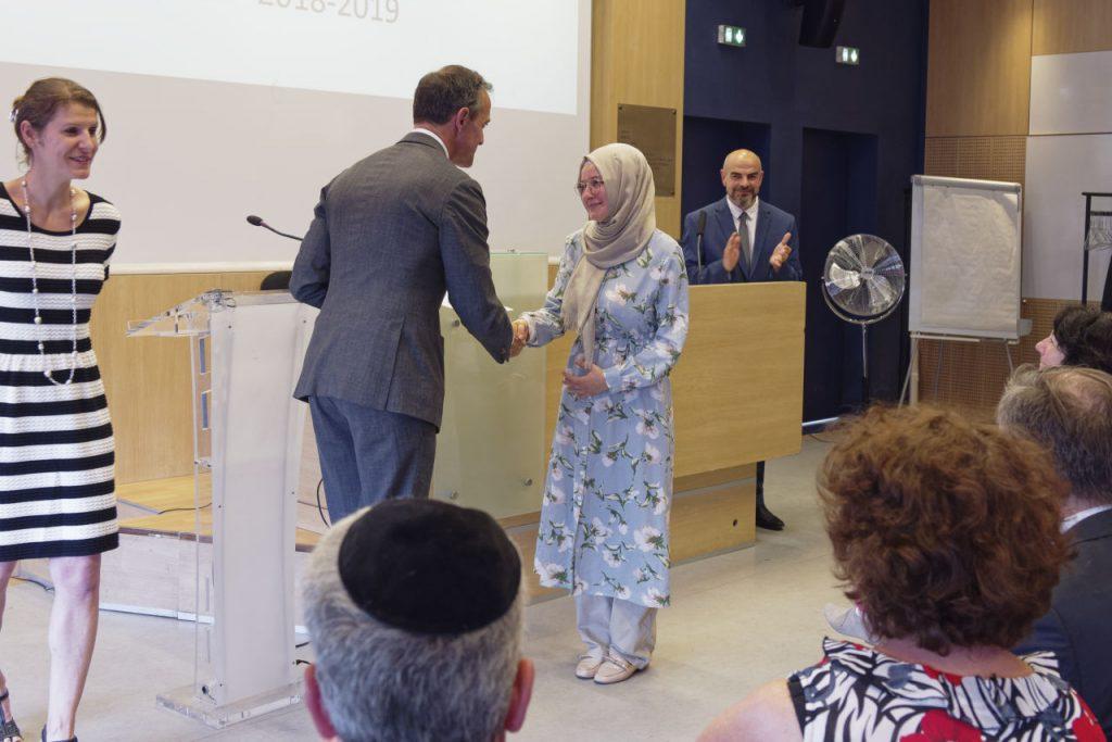 """cérémonie de certification de le 3ème promotion du parcours """"Emouna - L'amphi des religions"""","""