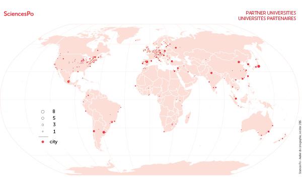 Universités partenaires [carte]