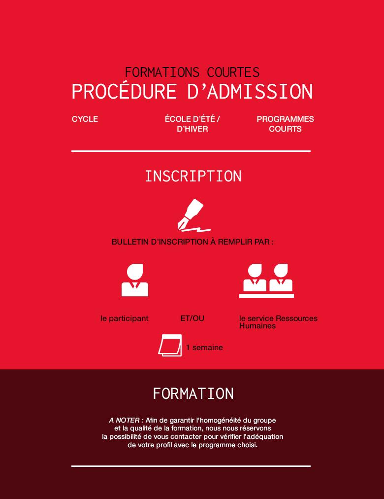Formations courtes - procédure d'admissson [Infographie]