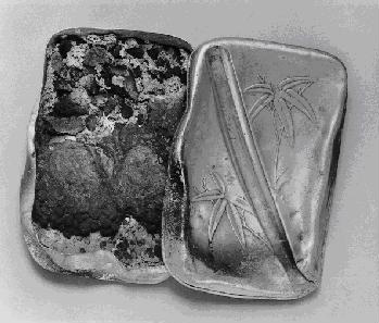 Lunchbox of junior high school student Orimen Shigeru. Hiroshima Peace Memorial Museum