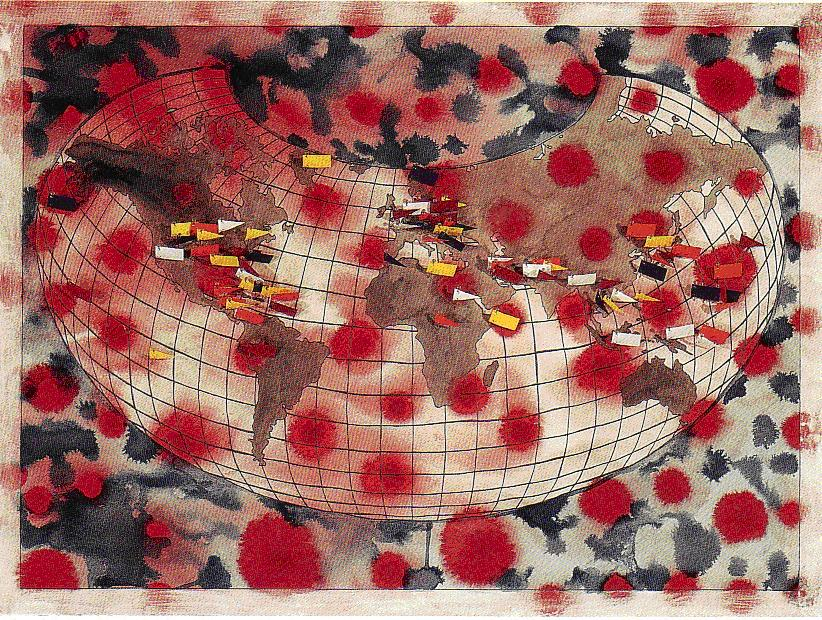 Places the United States Has Bombed, 1854-Ongoing. Artist elin o'Hara slavick