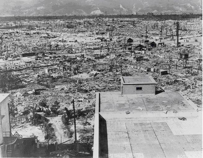 Hiroshima after the bomb. US National Archives