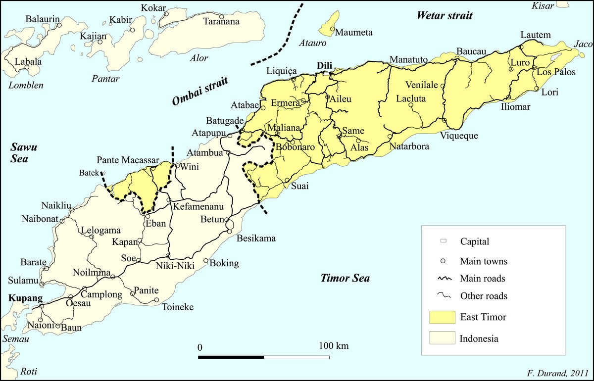 Timor-East-West-map