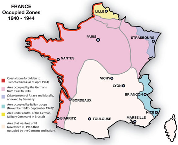 Map Of France Zones.Chronology Of Repression And Persecution In Occupied France 1940 44