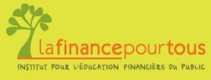 """Logo du site """"La finance pour tous"""" de l'IEFP (L'Institut pour l'éducation financière du public"""". CC BY-SA 3.0"""