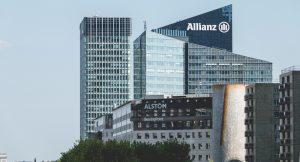 Allianz builing at la Défense. 2017 by Pierre-Olivier, via Shutterstock