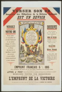 Versez son or. Souscrire des obligations de la défense nationale. C'est un devoir. L'Emprunt de la Victoire. Janvier 1920. Domaine public.