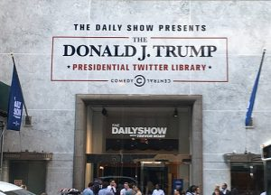 57 & Fifth (within sight of Trump Tower) , Source : The Donald J. Trump Presidential Twitter Library. CC BY 2.0