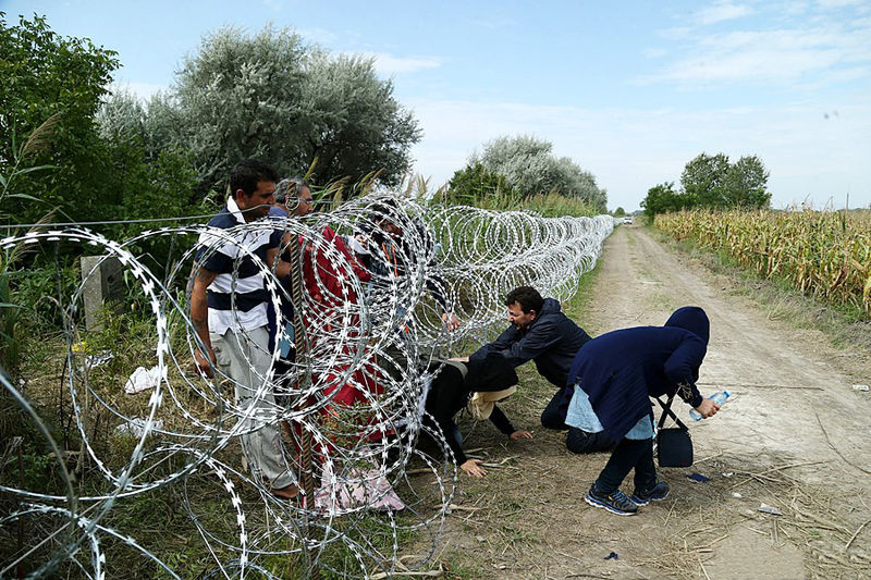 Migrants in Hungary 2015. Photo: Gémes Sándor/SzomSzed/ CC BY-SA 3.0 via Wikimedia Commons