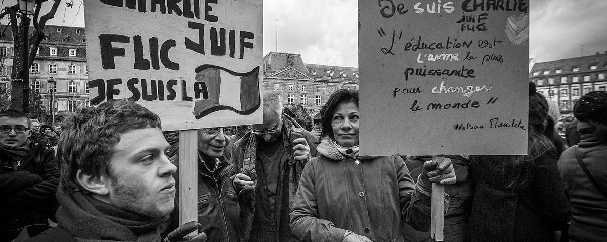 Strasbourg manifestation Charlie Hebdo 11 janvier 2015. Crédits :Claude TRUONG-NGOC