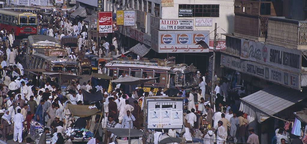 People in Karachi, 1990 By Ziegler175 (Own work) [CC BY-SA 3.0 , via Wikimedia Commons