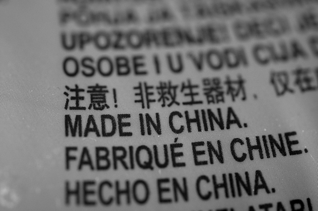 made in china. Martin Abegglen. Flickr. CC BY-SA 2.0